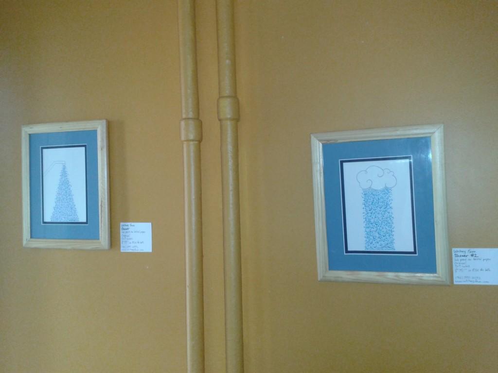 "Wentworth Perk art show ""Shower"" and ""Shower #2"""