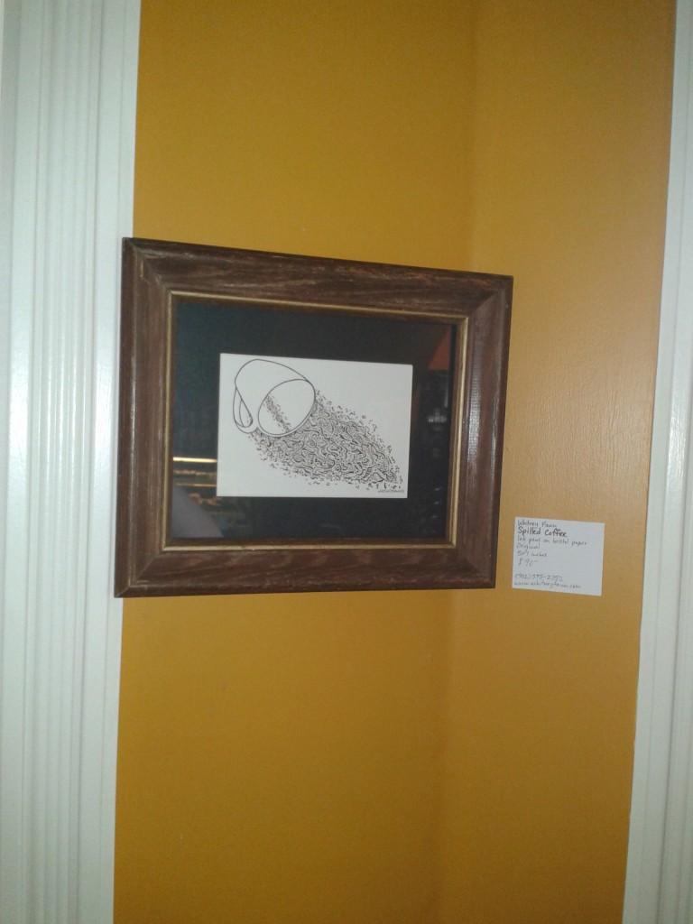 """Wentworth Perk art show """"Spilled Coffee"""""""