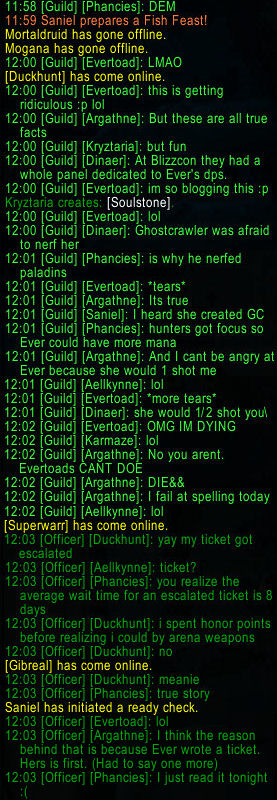 Legendary Ever guild chat 2