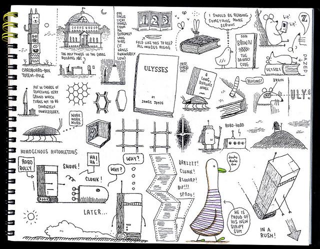 Sketchbook page 29 by Tom Gauld