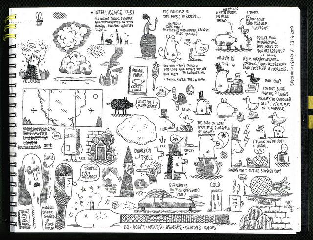 Sketchbook page 20 by Tom Gauld