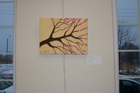 Credit Union Art Show - One of Michelle's paintings