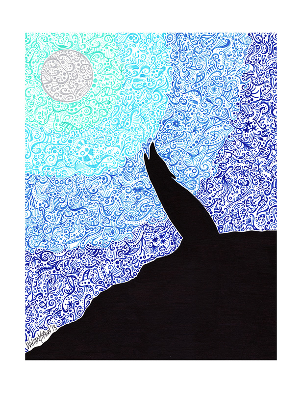 Moonwolf by Whitney Fawn MacEachern