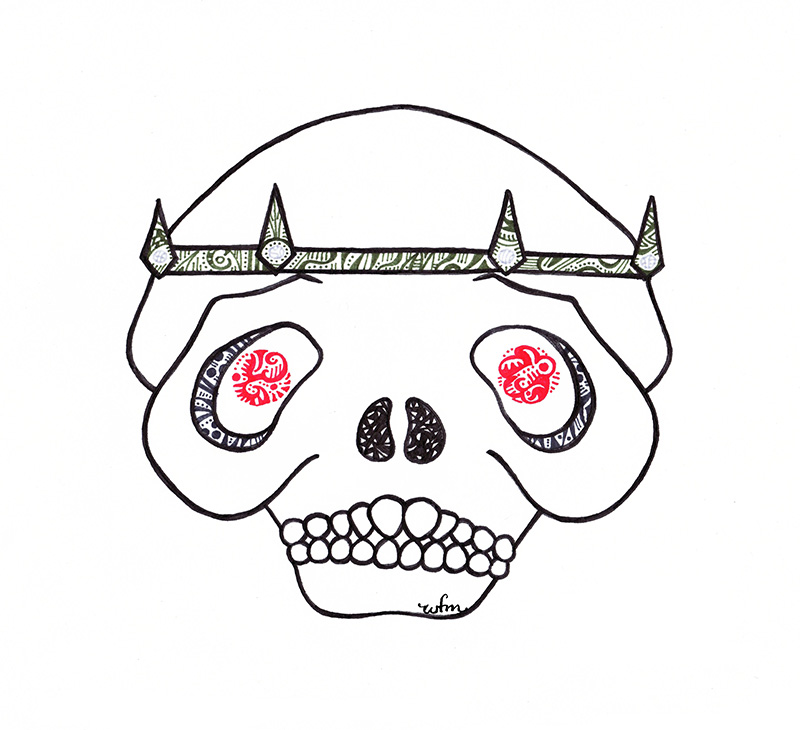 Talking Skull from The Last Unicorn by Whitney Fawn MacEachern
