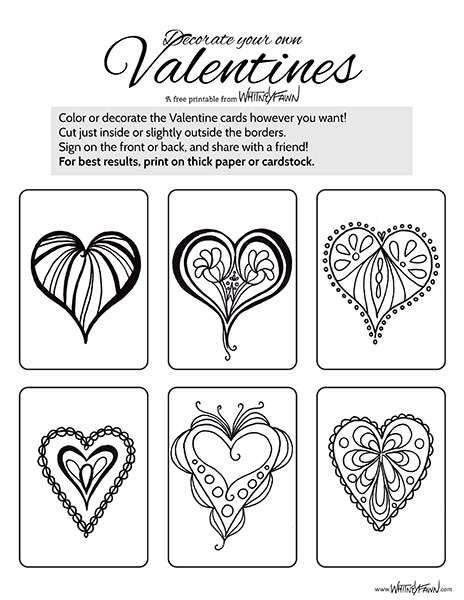 Valentine Cards Printable preview