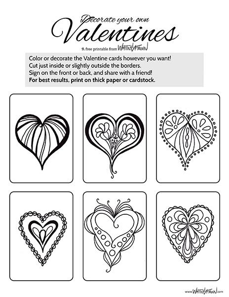 Valentine Cards Printable preview