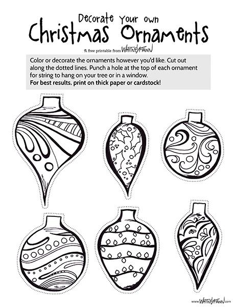 Xmas Ornaments Printable preview