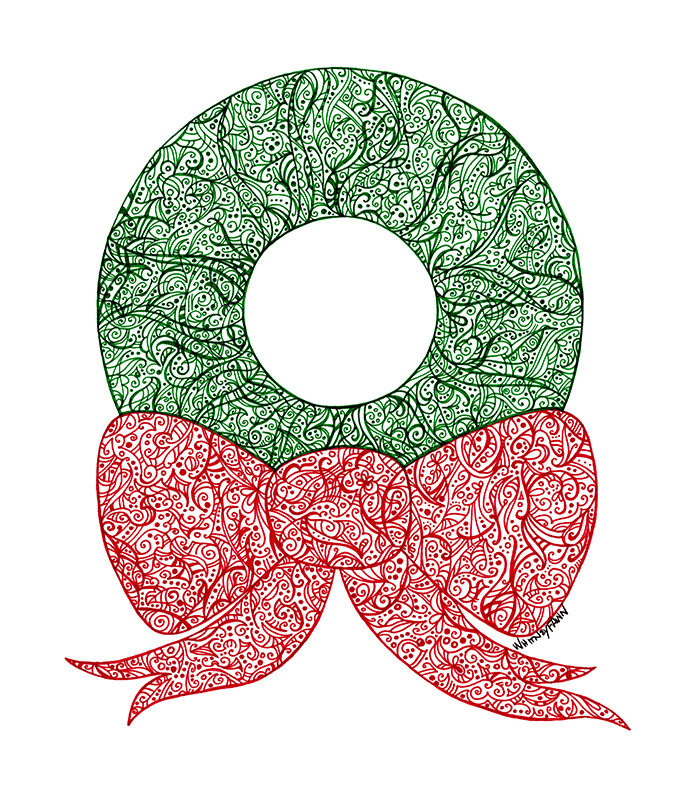 Xmas Wreath by Whitney Fawn MacEachern