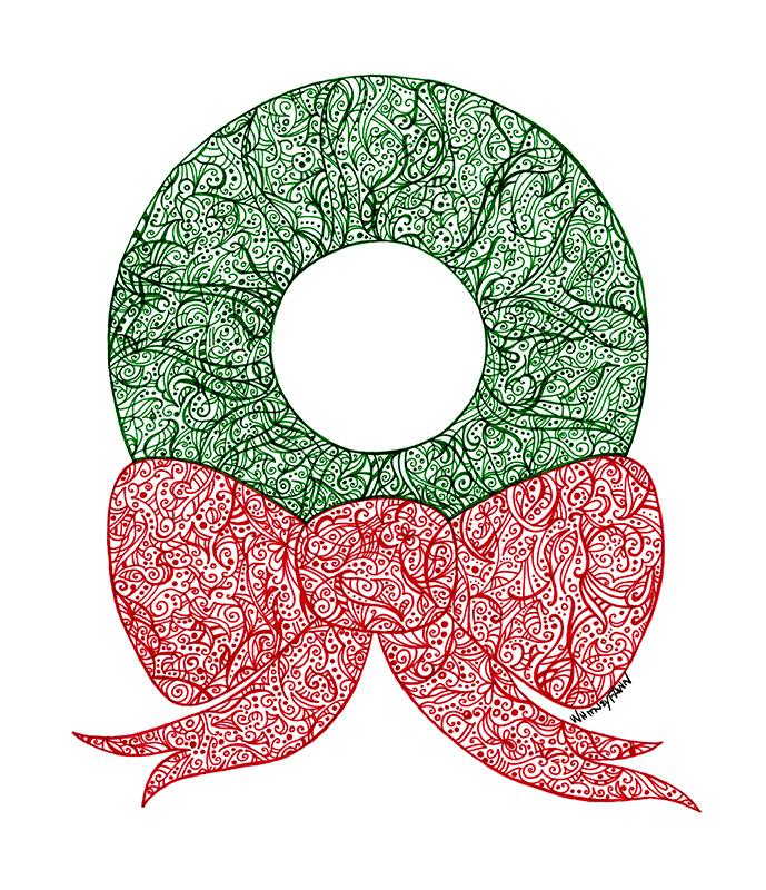Xmas Wreath by Whitney Fawn MacEachern
