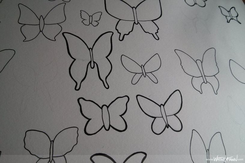 Butterflies for ProletariART - outlines