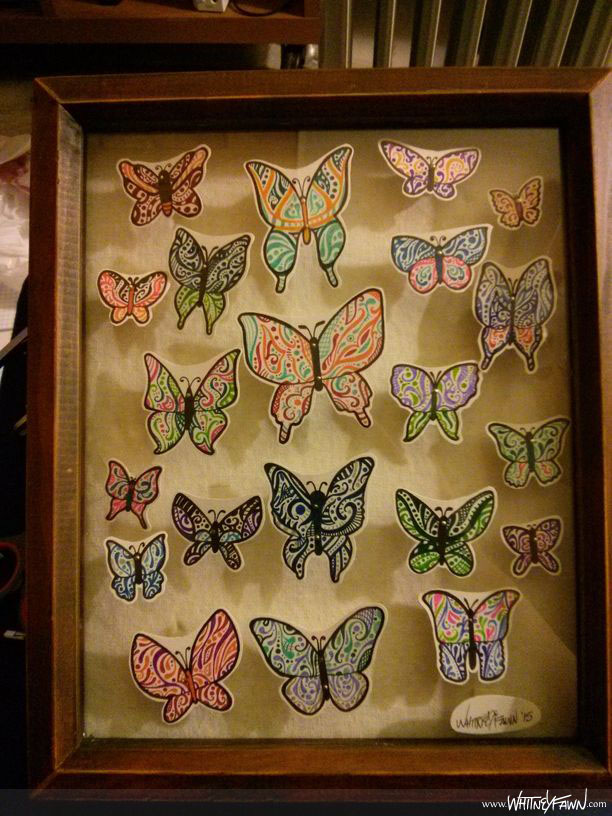 """A Change of Art"" - Complete butterfly shadowbox"
