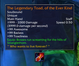 The Legendary Toad, of the Ever Kind